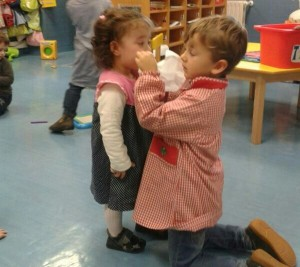 Older students of all ages help younger ones at Begoñazpi Ikastola. This makes up the centre's innovative culture in education