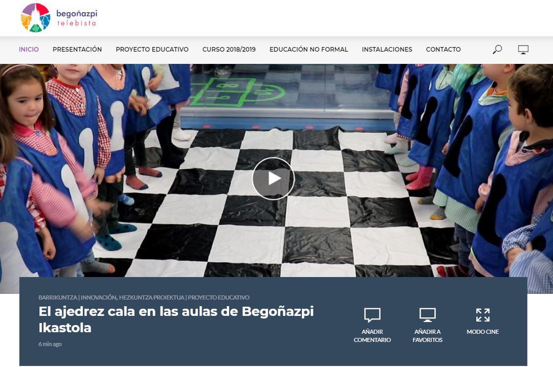 El ajedrez cala en las aulas de Begoñazpi Ikastola